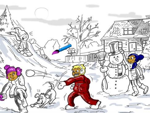 צביעה בחורף