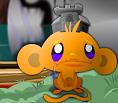 קוף עצוב שמח בטירה